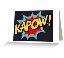 Kapow! Comic Book Greeting Card