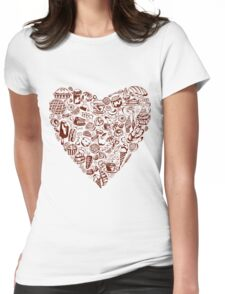 yum yum_ heart Womens Fitted T-Shirt