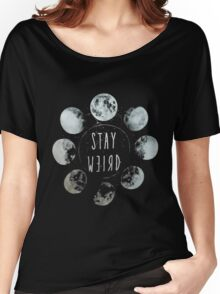 Moon Phase Stay Weird Women's Relaxed Fit T-Shirt