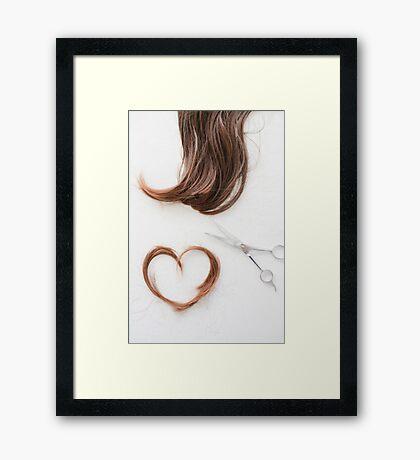 Love your hair Framed Print