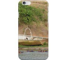 boat on lake iPhone Case/Skin