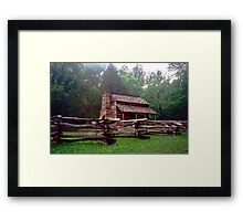 Wooden Cabin - Cades Cove, Tennessee Framed Print