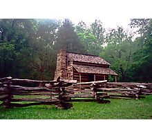 Wooden Cabin - Cades Cove, Tennessee Photographic Print