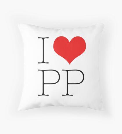 I Heart PP Throw Pillow