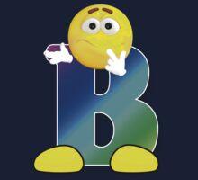 Letter B Alphabet Smiley Monogram Face Emoji Shirt for Men Women Kids Kids Tee