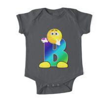 Letter B Alphabet Smiley Monogram Face Emoji Shirt for Men Women Kids One Piece - Short Sleeve