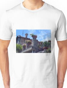 House with many flower pots in Portofino Unisex T-Shirt