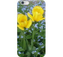 Three yellow tulips iPhone Case/Skin