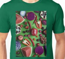 Red food on green Unisex T-Shirt