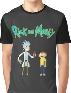 Rick and Morty Pixels Graphic T-Shirt