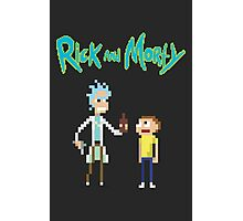 Rick and Morty Pixels Photographic Print