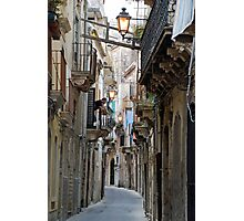 Old street in Siracusa Photographic Print