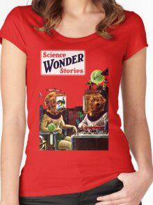 Science Wonder Stories magazine Women's Fitted Scoop T-Shirt