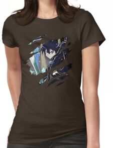 Kirito Anime Manga Shirt Womens Fitted T-Shirt