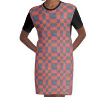 asphalt & sun check pattern Graphic T-Shirt Dress