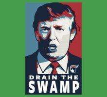 Donald Trump T Shirt, Drain The Swamp Kids Tee