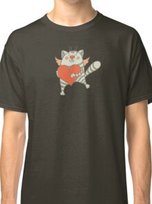 a cat with a heart Classic T-Shirt