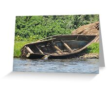 boat on lake Greeting Card