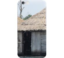african hut on water iPhone Case/Skin