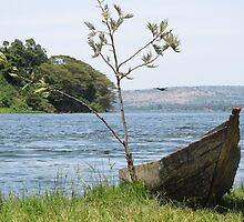 boat on lake by spetenfia