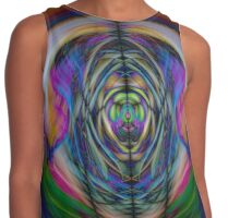Digitally enhanced image abstract twirl background Contrast Tank