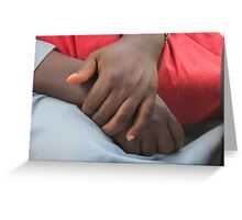 african man hands Greeting Card