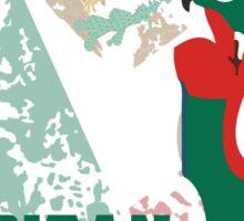 Capitan Mexicana Cool Sarcastic Funny America Captain Graphic Artistic Design Sticker