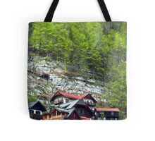 Chalets on the Mountains  Tote Bag