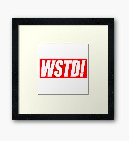 Wasted - Supreme parody (GTA)  Framed Print