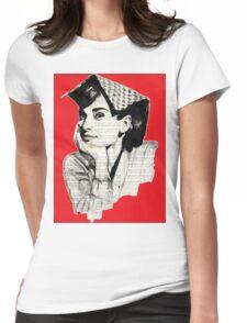 Audrey Hepburn pn05 Womens Fitted T-Shirt