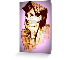 Audrey Hepburn pn07 Greeting Card