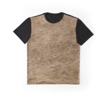 natural nature golden wheat field texture pattern Graphic T-Shirt