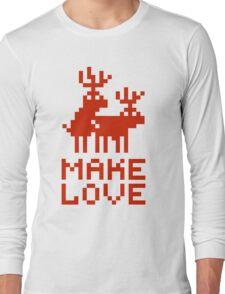 Christmas sweater deers in love Long Sleeve T-Shirt