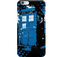 Retro Ink Splash in Time and Relative Dimension In Space iPhone Case/Skin