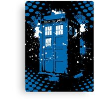 Retro Ink Splash in Time and Relative Dimension In Space Canvas Print
