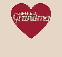 Worlds Best Grandma Womens Fitted T-Shirt