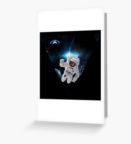 Capitain KitKat Lost in Space Greeting Card
