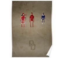 8-Bit Marvels Daredevil Poster