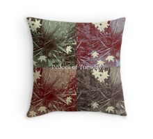 Vintage Rain Lilies Throw Pillow