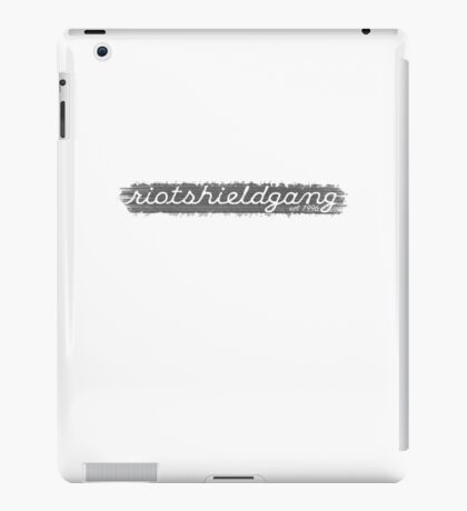 RIOTSHIELDGANG grey simplistic print iPad Case/Skin