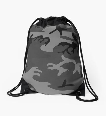 Army Camouflage by Chillee Wilson Drawstring Bag