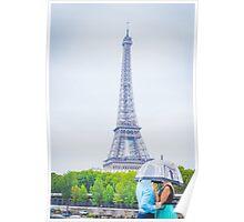 raining paris Poster