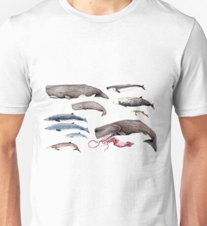 Deep sea whales  Unisex T-Shirt