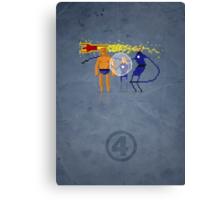 8-Bit Marvels Fantastic Four Canvas Print