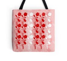Layered Floral Silhouette Print (2 of 8 please see description) Tote Bag