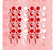 Layered Floral Silhouette Print (2 of 8 please see description) Photographic Print
