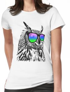 Cool Owl Womens Fitted T-Shirt