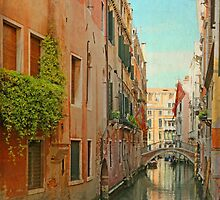 Vintage Inspired Venetian Canal  by BrookeRyanPhoto