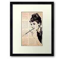 Audrey Hepburn an02 Framed Print