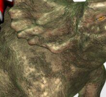Santa Claus Riding A Triceratops Sticker